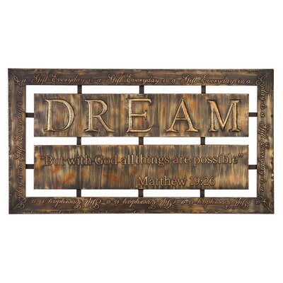 UMA Enterprises Toscana Metal Wall Home lI Plaque