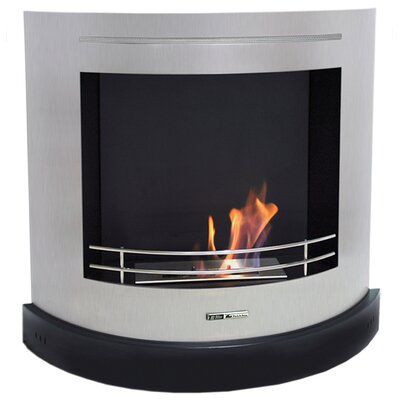BlackandStone VioFlame Curved Ethanol Fireplace