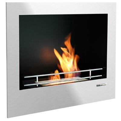 BlackandStone VioFlame Built-in Wall Mount Ethanol Fireplace