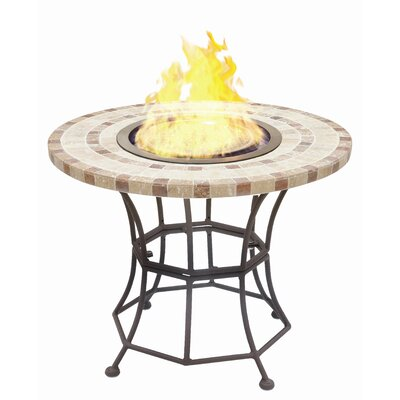 BlackandStone VioFlame Marble Top Fire Pit Table with Ethanol Burner