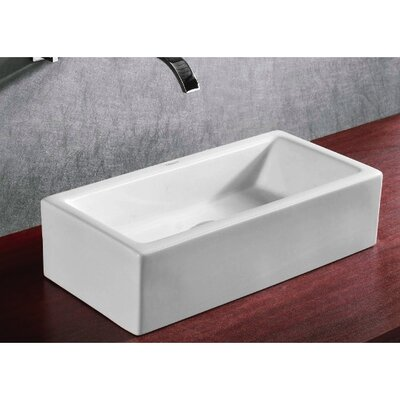 Ceramica Rectangular Bathroom Sink - Caracalla CA4130