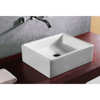 Caracalla Ceramica Rectangular Vessel Bathroom Sink - Caracalla CA4158