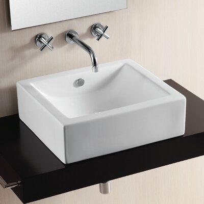 Caracalla Ceramica II Vessel Bathroom Sink with Curved Basin
