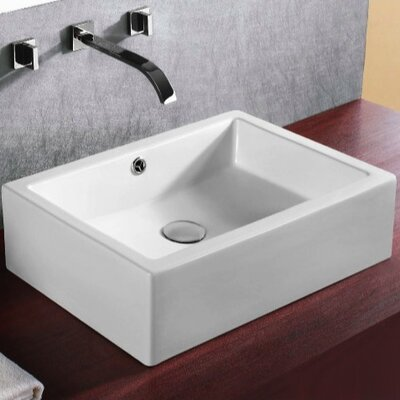 Bathroom Sink Rectangular : Caracalla Ceramica Rectangular Bathroom Sink & Reviews Wayfair