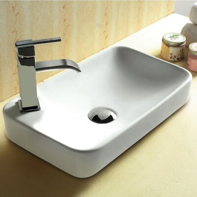 Ceramica Rectangular Self Rimming Bathroom Sink - Caracalla CA4121A