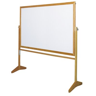 "Claridge Products Premiere Wood Frame Reversible Markerboard (LCS) 3'6""H x 5'W"