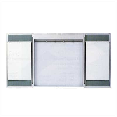 Claridge Products 4' x 6' Premiere Cabinet Lecture Unit with LCS Markerboard