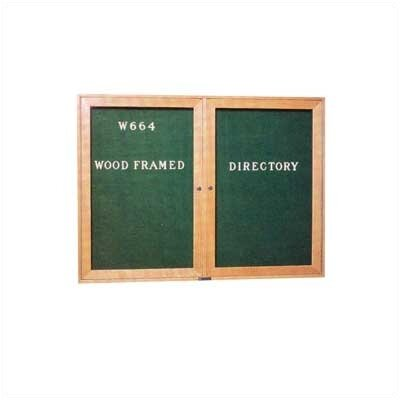 "Claridge Products 36""H x 48""Wide Wood Framed Directory with Glass Doors"