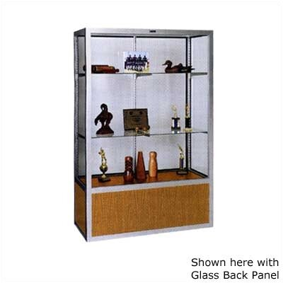Claridge Products No. 335/B Freestanding Display Case with Oak Back Panel