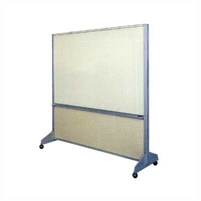 Claridge Products Premiere Room Divider with Markerboard Side and Fabricork Side