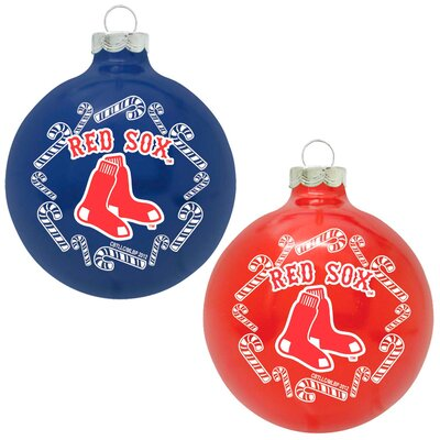 MLB Home and Away Glass Ornament Set (Set of 2)