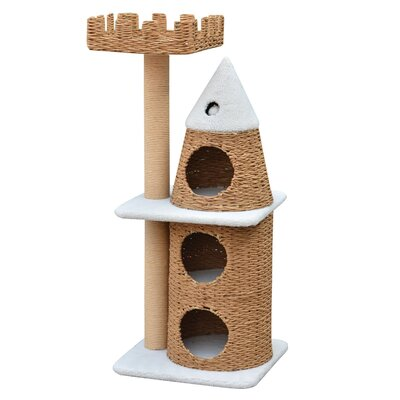 "PetPals 45"" Condo and Top Nest Castle Cat Tree"