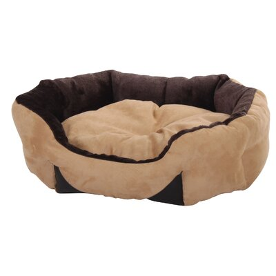 Plush Cuddler Bolster Dog Bed