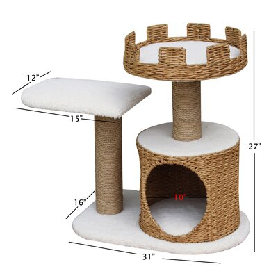 "PetPals 27"" Cat Condo with Crown Perch"