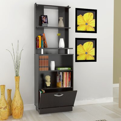 Bookcase with Storage Area in Espresso Wenge