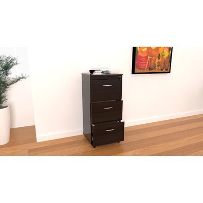 Inval Triple Drawer Mobile File in Espresso Wenge