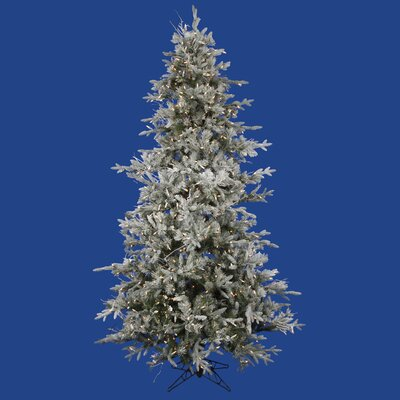 Vickerman Co. Frosted Wistler Fir 9' Green Artificial Christmas Tree with 1200 Clear Lights with Rolling Stand