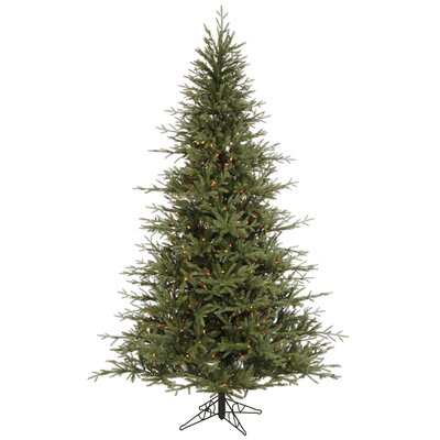 Vickerman Castlerock Frasier Fir 8.5' Green Artificial Christmas Tree with 1000 Multicolored ...
