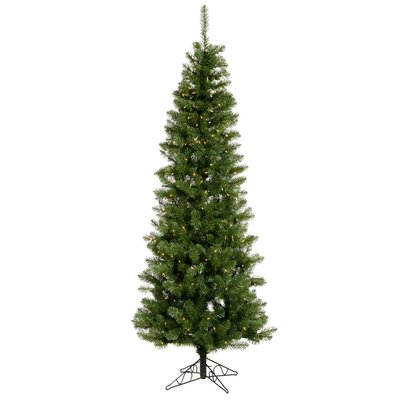 Vickerman Co. Salem Pencil Pine 7.5' Artificial Christmas Tree with Clear Lights