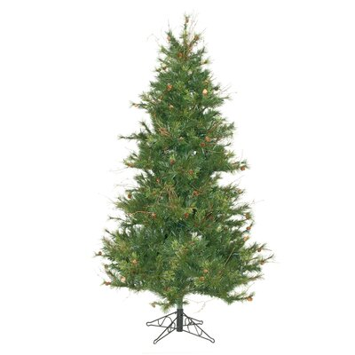 Vickerman Co. Mixed Country Pine Slim 7.5' Green Artificial Christmas Tree with Stand