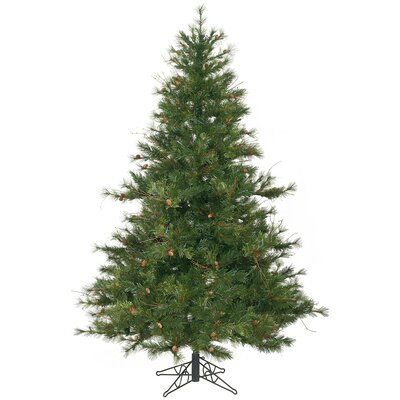Vickerman Mixed Country Pine 7.5' Green Artificial Christmas Tree with Stand