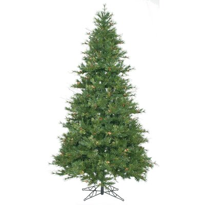 Vickerman Co. Mixed Country Pine 7.5' Green Slim Artificial Christmas Tree with Stand
