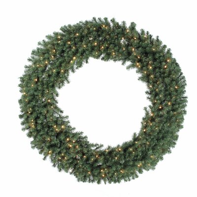 "Vickerman Co. Douglas Fir 100"" Wreath with Clear Lights"