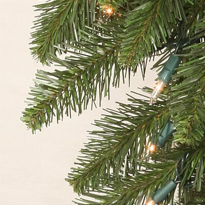 Vickerman Co. Camdon Fir 7.5' Green Artificial Slim Christmas Tree with 700 Multicolored Lights with Stand