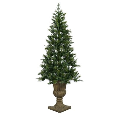 Vickerman Oneco Pine 6.5' Half Potted Artificial Christmas Tree