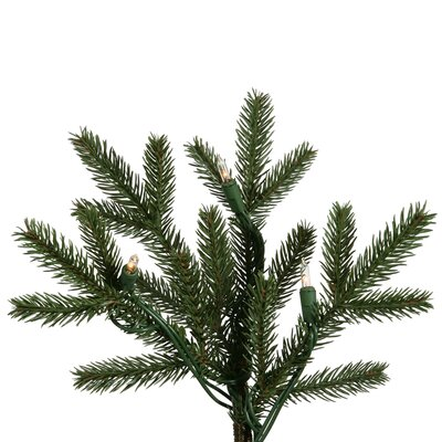 Vickerman Co. Balsam Fir 6.5' Green Artificial Christmas Tree with 400 Clear Lights with Stand