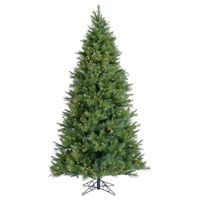 Vickerman Butte Mixed Pine 7.5' Green Artificial Christmas Tree with 850 Clear Lights with ...