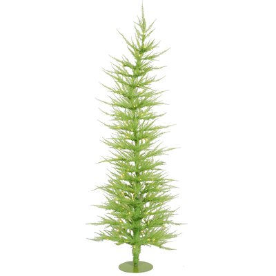 Vickerman Colorful Laser Chartreuse 5' Green Artificial Christmas Tree with 100 Green Lights