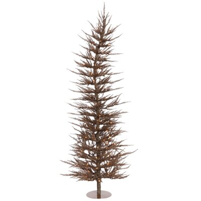 Vickerman Colorful Laser 6' Mocha Artificial Christmas Tree with 150 Clear Lights