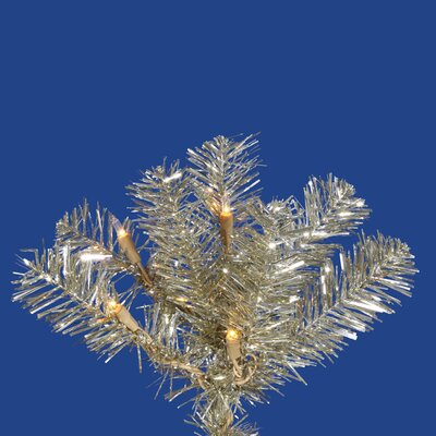 Vickerman Co. Champagne Pencil 6.5' Artificial Christmas Tree with 300 Clear Lights
