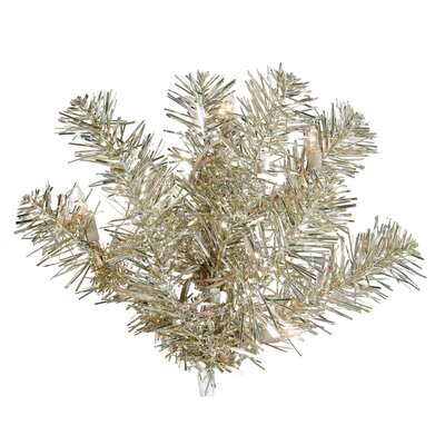 Vickerman Co. Champagne 7' Artificial Christmas Tree with 500 Clear Mini Lights with Stand