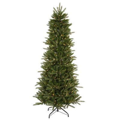 Vickerman Co. Vermont Instant Shape 6.5' Green Artificial Christmas Tree with 450 Clear Dura-Lit Mini Lights with Stand