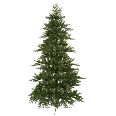 Vickerman Co. Jersey Frasier Fir 7.5' Green Artificial Wall Christmas Tree with Stand