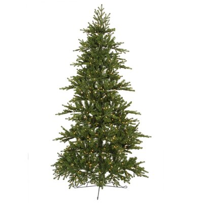 Vickerman Co. Jersey Frasier Fir 7.5' Green Artificial Christmas Tree with 450 Clear Dura-Lit Mini Lights with Stand