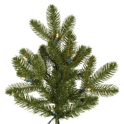 Vickerman Co. Maine Balsam Fir 6.5' Green Artificial Christmas Tree with 350 Clear Dura-Lit Mini Lights with Stand