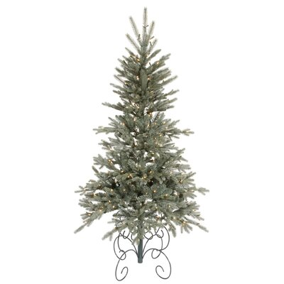 Vickerman Co. Blue Jersey Frasier Fir 7' Green Artificial Christmas Tree with 350 Clear Dura-Lit Mini Lights