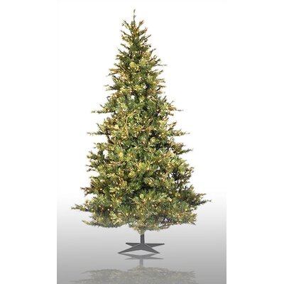 Country Pine 9' Green Slim Pine Artificial Christmas Tree with 950 Pre-Lit Clear Lights with ...