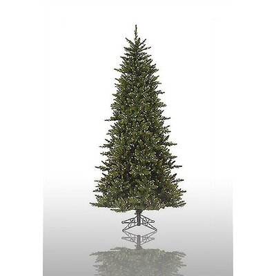 Vickerman Camdon Fir 8.5' Green Slim Fir Artificial Christmas Tree with 800 Pre-Lit Clear ...
