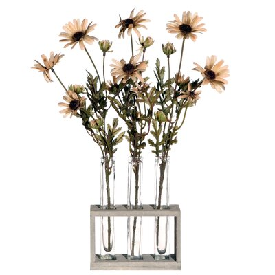 Vickerman Co. Floral Artificial Potted Daisy Tubes in Crème Yellow