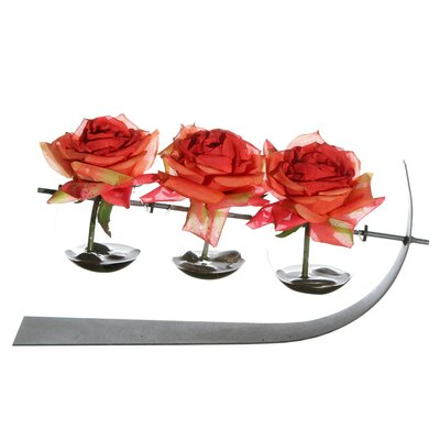 Vickerman Co. Floral Three Rose