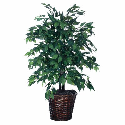 Vickerman Co. Blue Wreath and Garland American Bush Floor Plant in Planter