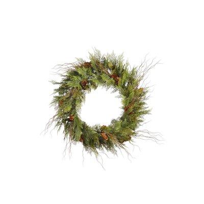 Vickerman Co. Cedar Twig Pine Cone Wreath with 160 Tips