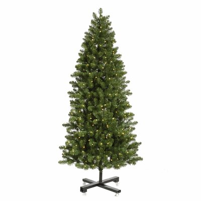 Vickerman Co. Grand Teton 9.5' Slim Green Artificial Christmas Tree with 1000 LED White Lights