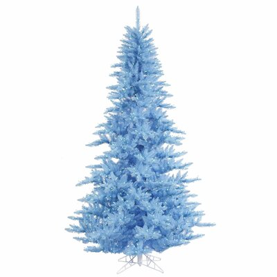Vickerman Co. 4.5' Sky Blue Fir Artificial Christmas Tree with 250 Mini Lights