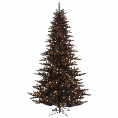 Vickerman 7.5' Black Fir Artificial Christmas Tree with 750 Mini Clear Lights