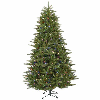 Vickerman Co. Majestic 7' Green Frasier Christmas Tree with 950 LED Lights Multi with Stand